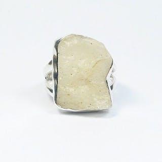 Libysche Wüstenglas Ring / 925 Sterling Silber / neu...