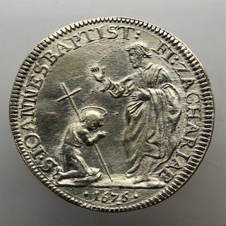 Italy, Florence - Mezza Piastra 1676 - Cosimo III De Medici (1670-1723) - Silver