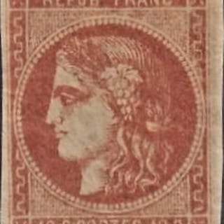 Frankreich - Issuance of Bordeaux - 40 centimes blood red