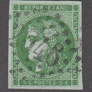 Frankreich - Bordeaux issue - 2 centimes brown-red + 4...
