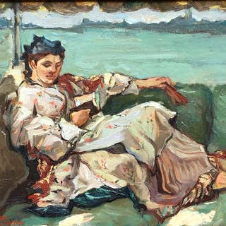 Borgen Lindhardt (1974) - Kimono dame op bootje