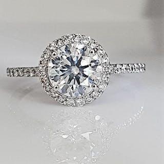14 kt. White gold - Ring - 1.68 ct Diamond - No Reserve