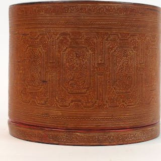 Betelbox (4) - Lacquer - A Large Betel Box- Burma - Early 19th century