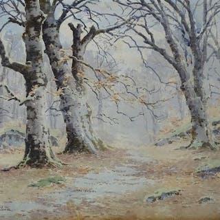 Joseph-Clément-Maxime JEANNOT (1855- ?) - Bois en hiver