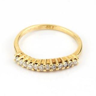 18 kt. Gold, White gold - Ring Diamond