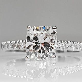 14 kt. White gold - Ring - 1.12 ct Diamond - No Reserve VS1