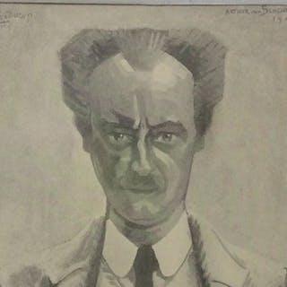 Jan Toorop ( 1858 - 1928) - Portret van Arthur van Schendel ( 1874 - 1946)
