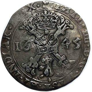 Paesi Bassi spagnoli -  Brabante - Patagon 1645 Filip IV...