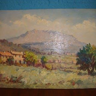 Henri Barret (XXe) - Montagne de La Sainte Victoire Provence