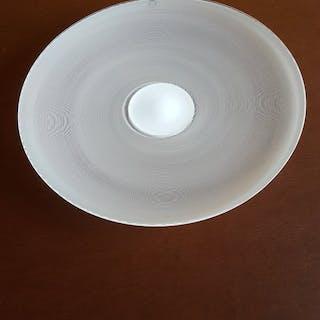 Tapio Wirkkala - Venini - dish - White glass with filigree decorations