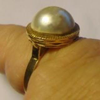 18 kt Gold - Ring Perle
