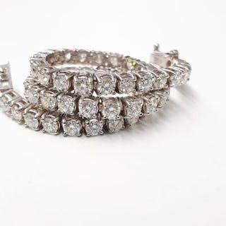 14 kt. White gold - Bracelet - 4.62 ct Diamond
