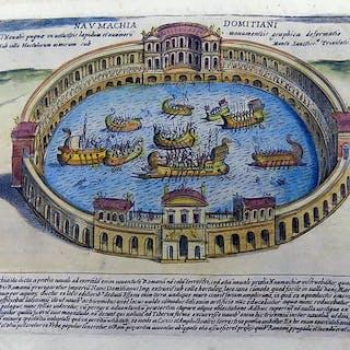 Giacomo Lauro (1550- –1605) - Mock Roman Naval Battle...