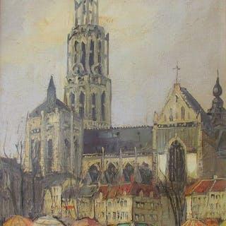 Willem ( 20e eeuw )- Markt op de Groenplaats te Antwerpen