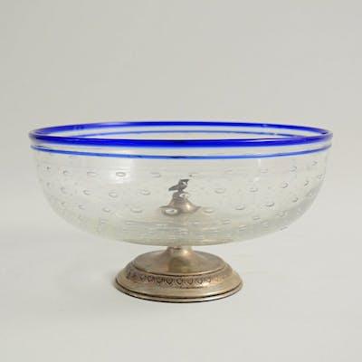 Attr. Barovier & Toso - Coppa a bolle - .800 argento, Vetro
