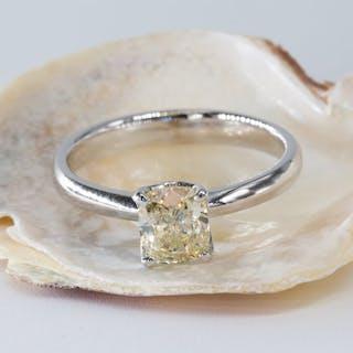 14 kt. White gold - Ring - 1.06 ct Diamond - Fancy...