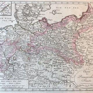 Polen, Midden- en Oost Europa; Justus Perthes - Charte des Preussischen Staats