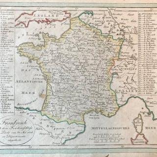 Frankreich, West- en Zuid europa; Justus Perthes - Frankreich - 1818