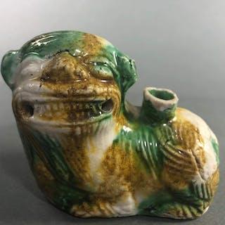 Water dropper (1) - Sancai - Porcelain