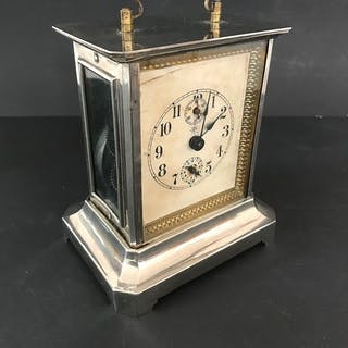 Deutsche Junghans Tischuhr mit Spieluhr - Kupfer - Anfang des 20. Jahrhunderts
