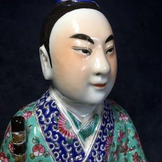 Statuetta (1) - Famille rose - Porcellana - Uomo - China...
