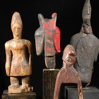Scultura (4) - legno - Yoruba - Senoufo - Baule - Nigeria - Costa d'Avorio