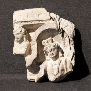 Scultura - Scisto - High quality fragment of two...