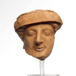 Ancient Greek Terracotta Male Head
