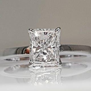 18 kt. White gold - Ring - 1.01 ct Diamond - No Reserve VS2