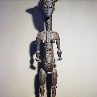 Ancestor statue - Wood - lagunaire - Akan - Côte d'Ivoire