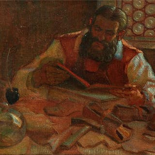 Unknown Artist- The Reading Shoemaker