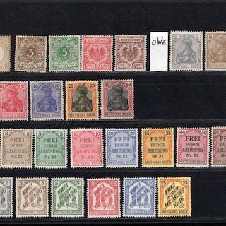 Deutsches Reich 1872/1938 - mit Flugpost 1924 komplett