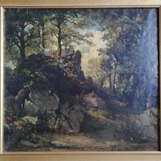 Jean Pierre Victor FALIES - Paysage FORESTIER