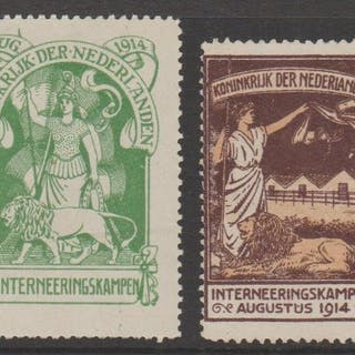 Niederlande 1916 - Internment camp stamps - NVPH IN1 + IN2