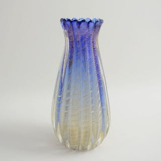 Barovier & Toso - Soft Corded Vase - Glass and gold leaf