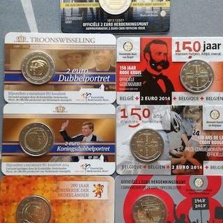 Europa - 2 Euro 2013/2018 - (7 coincards) Belgica, Holanda