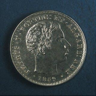 Portugal - Monarquia - D. Pedro V (1853-1861) -500 Reis - 1859- Silver