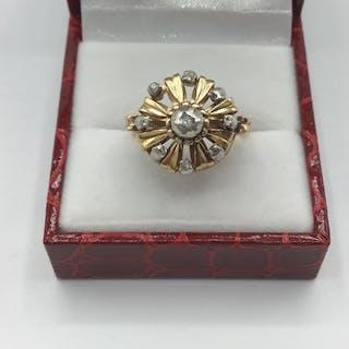 14 carati Oro giallo - Anello Diamante