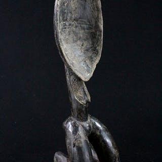 Cuillère avec des jambes - Bois - Dan - Côte d'Ivoire
