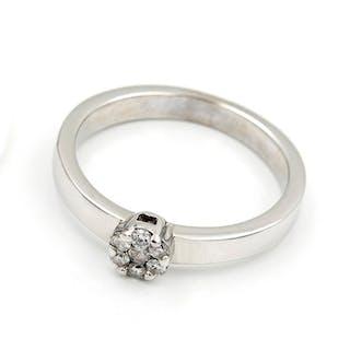 Oro, Oro blanco - Anillo Diamante