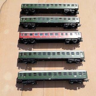 Märklin, Primex H0 - 4012 / 4024 - Personenwagen - 5 D-Zug-Wagen, TIN-Plate - DB