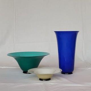 Murano, Venini - Three vases ´Years Thirty´ (3) - Stained glass