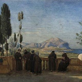 Haig Axel Herman (Svezia, 1835 - 1921) - Veduta di Palermo