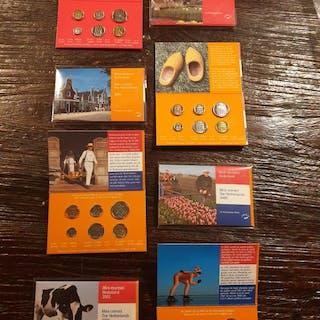 Die Niederlande - Minimuntset 1998/2001 origineel KNM (8 sets)