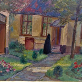 Evrard Paula (1878-1926) - Tuin van het Begijnhof.