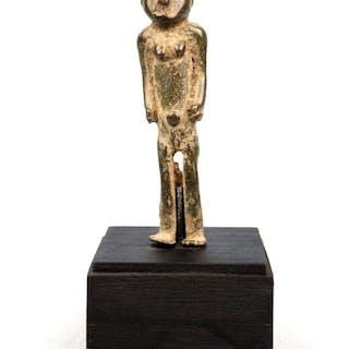 Figurine sur une base personnalisée - Bronze africain - Lobi - Burkina Faso