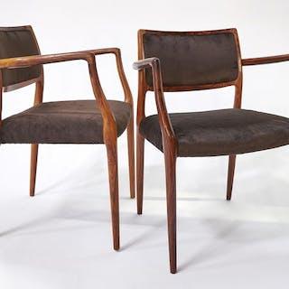 Niels O. Moller - pair of armchairs - model 65