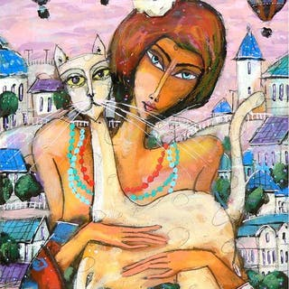 Wiktor Bezrukow- Girl With A White Cat