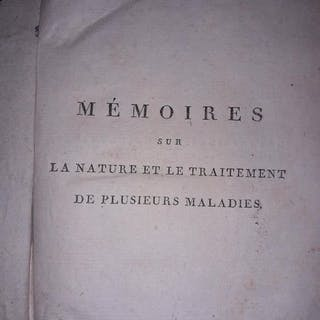 Antoine Portal - Mémoires sur la nature et le traitement des malades - 1800