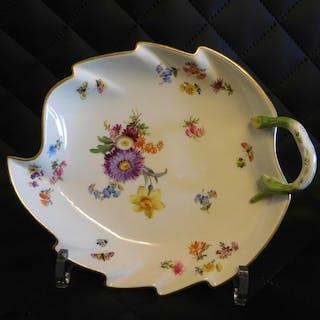 Meissen - Coppa grande foglia - Porcellana
